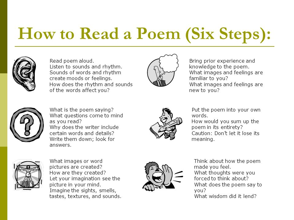 an introduction to the reasons for reading poetry Here are five reasons why we need poetry in our  reading, writing, and rising  edutopia® and lucas education research™ are trademarks or registered.